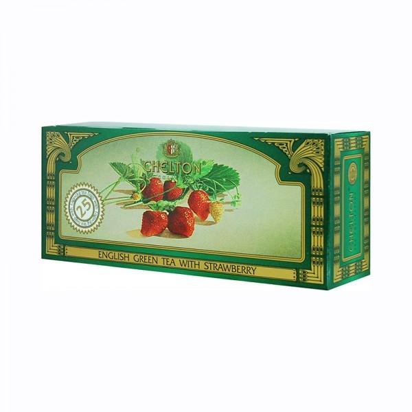 Englischer grüner Tee Erdbeere, 25 Beutel