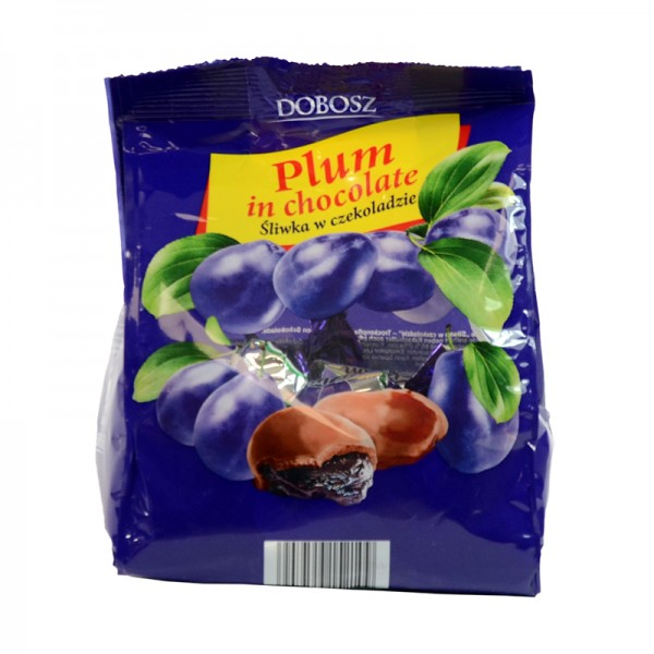 Premium-Konfekt Pralinen Pflaume Plum Слива в шоколаде DOBOSZ, 300 g
