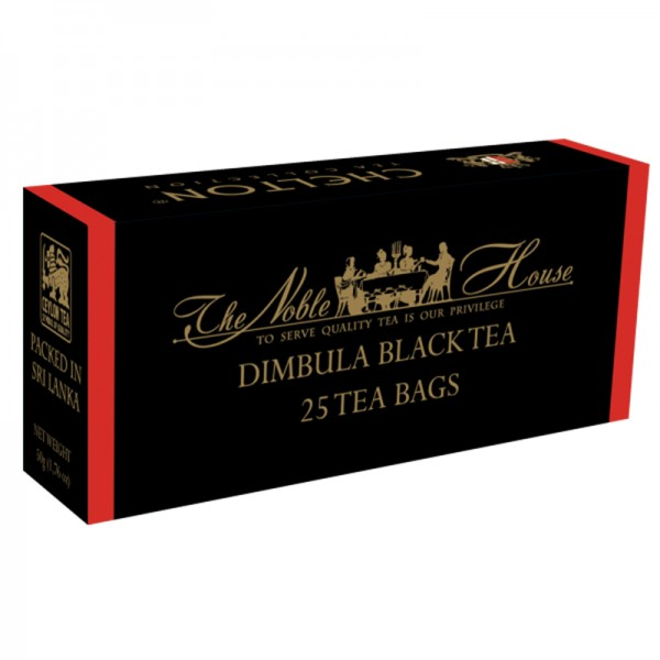 The Noble House – Dimbula Black, schwarzer Tee 25 Beutel