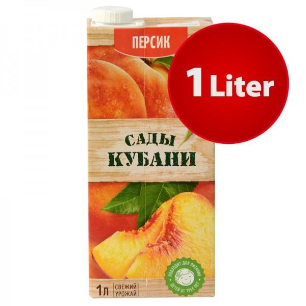 NEKTAR PFIRSICH Sady Kubani Сады Кубани im Tetra Pak, 1 Liter