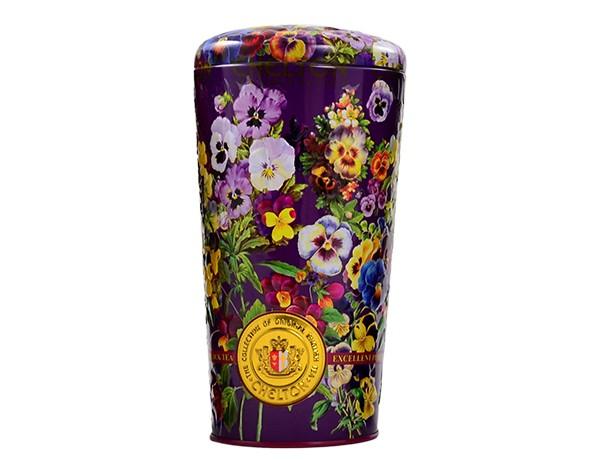 Blumenvase Stiefmütterchen, 100 g, loser schwarzer Tee mit Früchten und Blütenblättern