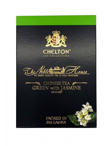 The Noble House Grüner Tee mit Jasmin Blütenblättern lose 100g