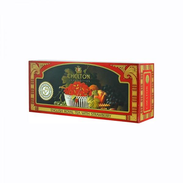 Englischer Royaltee Erdbeere, 25 Beutel
