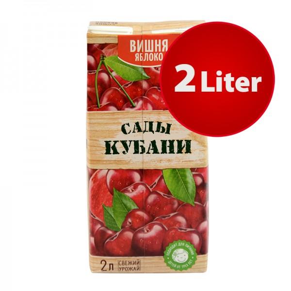 NEKTAR KIRSCHE-APFEL Sady Kubani Сады Кубани im Tetra Pak, 2 Liter