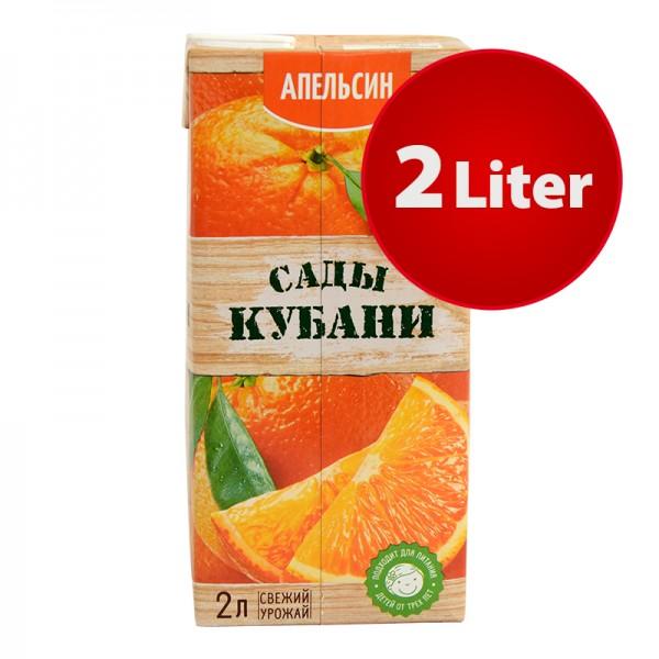 NEKTAR ORANGE APFELSINE Sady Kubani Сады Кубани im Tetra Pak, 2 Liter