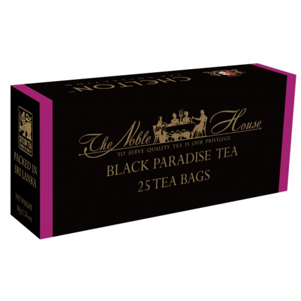 The Noble House – Black Paradise Tea, schwarzer Tee mit Maracuja 25 Beutel