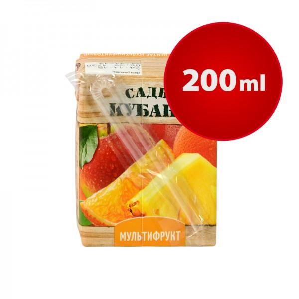 Saftpäckchen NEKTAR MULTIFRUCHT Sady Kubani Сады Кубани im Tetra Pak, 200 ml