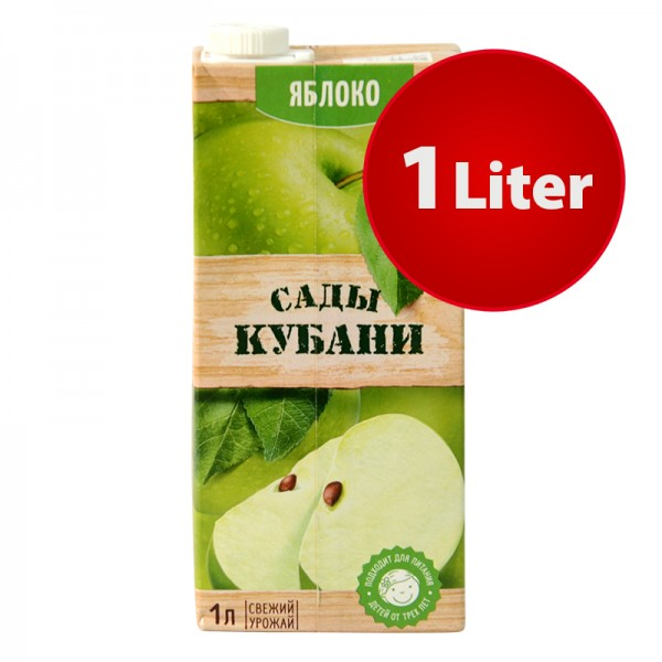 NEKTAR APFEL Sady Kubani Сады Кубани im Tetra Pak, 1 Liter