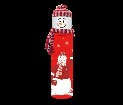 Snowman Red, schwarzer, loser Tee in Dose, 100 g