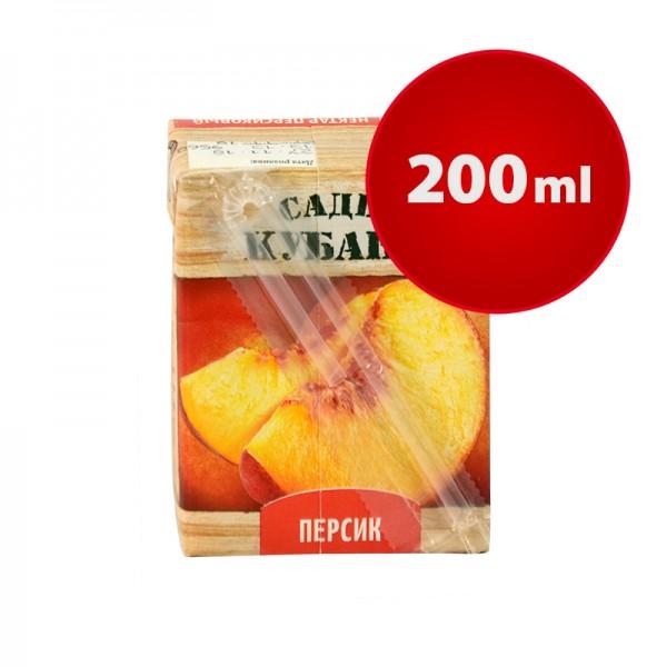 Saftpäckchen NEKTAR PFIRSICH Sady Kubani Сады Кубани im Tetra Pak, 200 ml