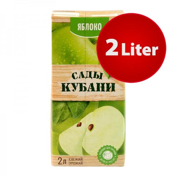 NEKTAR GRÜNER APFEL Sady Kubani Сады Кубани im Tetra Pak, 2 Liter