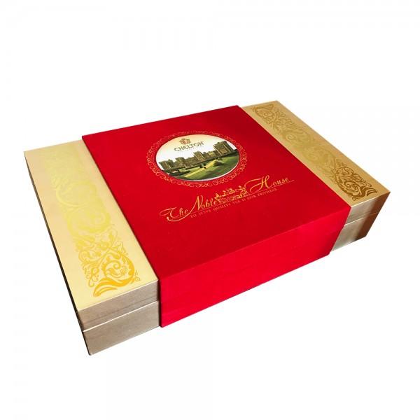 PREMIUM-Geschenk-Box Noble House, loser schwarzer Tee in 2 Blechdosen, 2 x 100 g