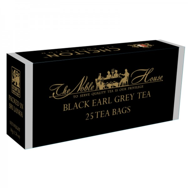 The Noble House – Black Earl Grey Tea, schwarzer Tee mit Bergamotte 25 Beutel