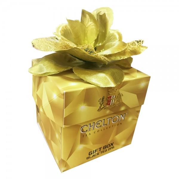 Tee-Geschenk-Box mit goldener Rose, loser schwarzer Tee, 50 g