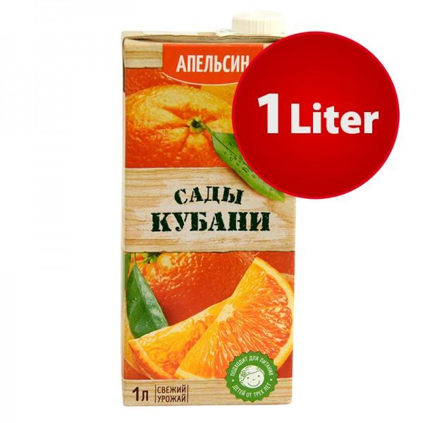 NEKTAR ORANGE APFELSINE Sady Kubani Сады Кубани im Tetra Pak, 1 Liter