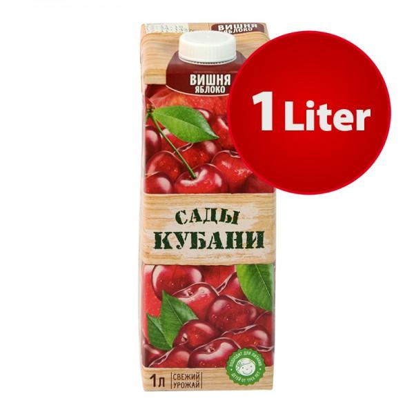 NEKTAR KIRSCH-APFEL Sady Kubani Сады Кубани im Tetra Pak, 1 Liter