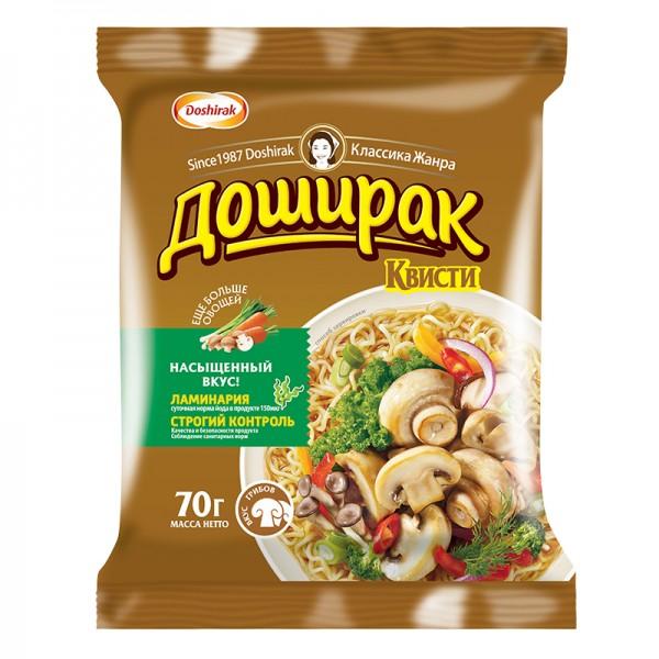 Fertignudeln Doshirak Quisti Mushrooms Champignons ДОШИРАК-КВИСТИ, 70 g