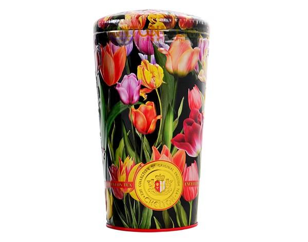 Blumenvase Tulpen, 100 g, loser schwarzer und grüner Tee mit Früchten und Blütenblättern