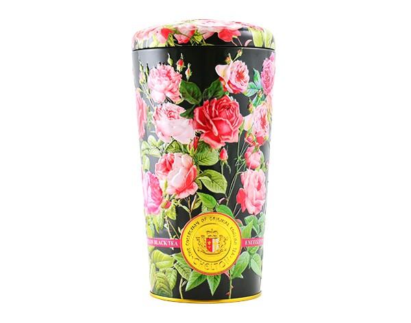 Blumenvase Rosen, 100 g, loser schwarzer Tee mit Früchten und Blütenblättern